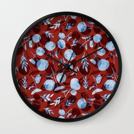 red pilea baby Wall Clock