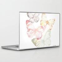 butterflies Laptop & iPad Skins featuring Butterflies by Aline Souza de Souza