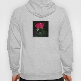 double delight rose bud (square) Hoody