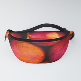 Symmetric pattern of colorful peaches Fanny Pack