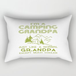 Camping Grandpa Rectangular Pillow