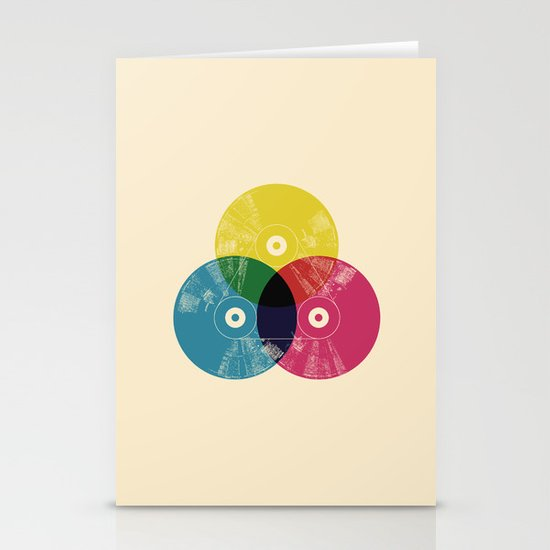 Music is the colors of life Stationery Cards