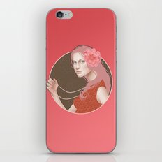Girl Holding a Pearl Necklace iPhone & iPod Skin