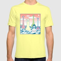Animals & Sea Mens Fitted Tee LARGE Lemon