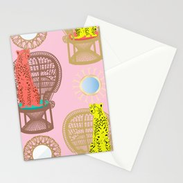 Rattan Cheetah Chairs + Mirrors Stationery Cards