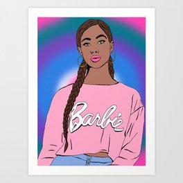 Black Barbie Art Print