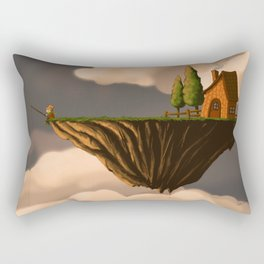 Fishing in the Clouds Rectangular Pillow