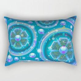 Space Age Abstract Circles Rectangular Pillow