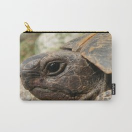 Close Up Side Portrait Of A Turkish Tortoise Carry-All Pouch