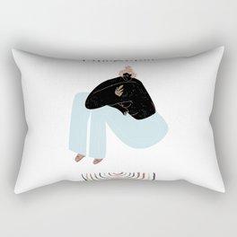 Rainbow Girl Rectangular Pillow