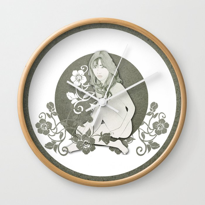 Pale Blossom Wall Clock