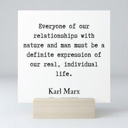68    Karl Marx Quotes   190817 Mini Art Print