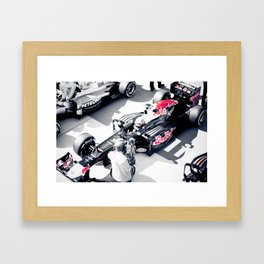Vettel on Pole, COTA Framed Art Print