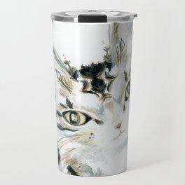 Curiosity Cat Travel Mug