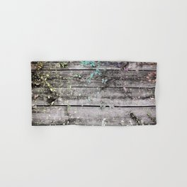 Planks and leaves Hand & Bath Towel