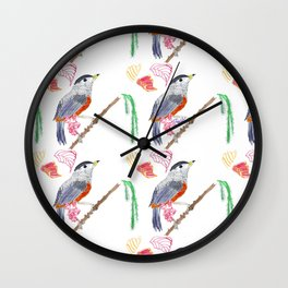 The birds and the trees Wall Clock