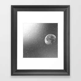 Dandelion Moon Framed Art Print