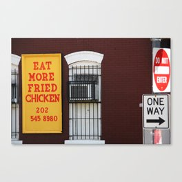 Eat More Fried Chicken Canvas Print