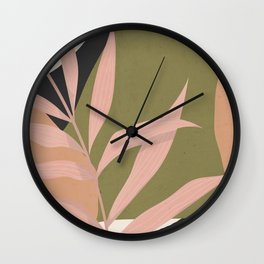 Tropical Leaf- Abstract Art 2 Wall Clock