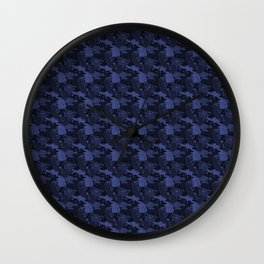 Atelier Siempre Cat Camo: Crowning Cobalt Wall Clock