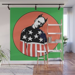 Keith Prodigy Orange and Green *All proceeds donated to charity* Wall Mural
