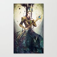 loki Canvas Prints featuring Loki by Mony