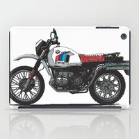 bmw iPad Cases featuring BMW R80GS PD by Ernie Young