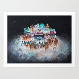 Chicago Dogs Art Print
