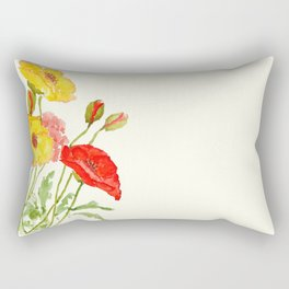 red and yellow  poppies Rectangular Pillow