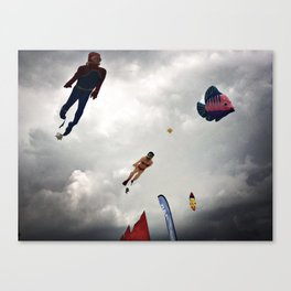 Flying sea Canvas Print