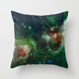 The Heart and Soul nebulae (NASA's Wide-field Infrared Survey Explorer) Throw Pillow