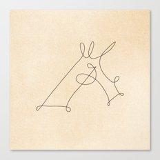 Scribbled Unicorn V3 Canvas Print