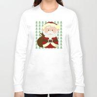 santa Long Sleeve T-shirts featuring Santa by Alapapaju