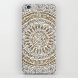 Elegant hand drawn tribal mandala design iPhone Skin