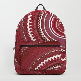 Shades of Red Mauve Mandala Design Backpack