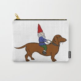 Gnome Riding a Dachshund Carry-All Pouch