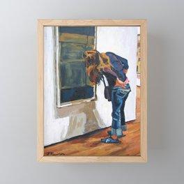 Perusing Modern Art Framed Mini Art Print