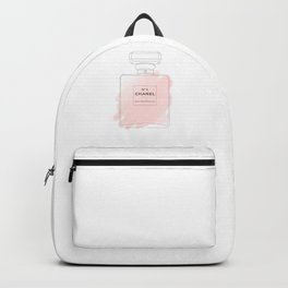 pink watercolor perfume Backpack