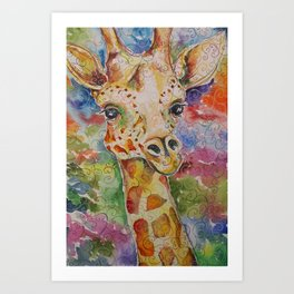 Little Delight Watercolor and Ink by Kit Sunderland Art Print