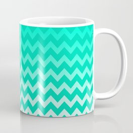Teal Chevron Coffee Mug