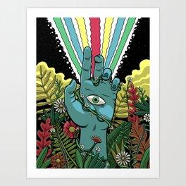 Hand of Sight Art Print