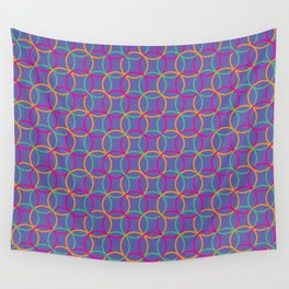 Colorful rings Wall Tapestry