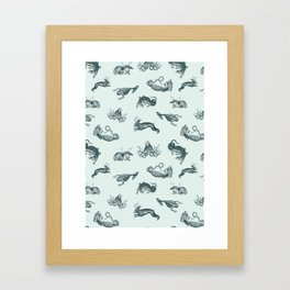 ephemera zoo Framed Art Print
