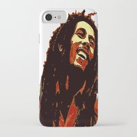 reggae iPhone & iPod Cases featuring the god of reggae by  Agostino Lo Coco