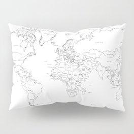 Paint your World Map Pillow Sham