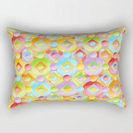 Rainbow Confection Rectangular Pillow