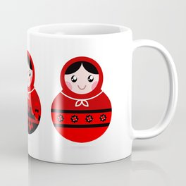 New matroska folk Collection / red Coffee Mug