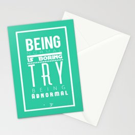 Try Being Abnormal (K) Stationery Cards
