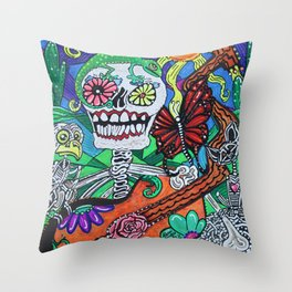 The Happy Dead Throw Pillow
