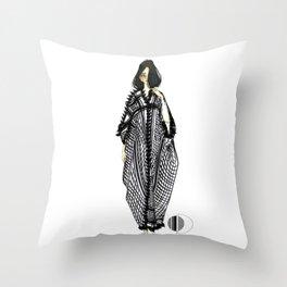Her Kaftan Throw Pillow